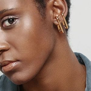 Geometric Double C Earrings